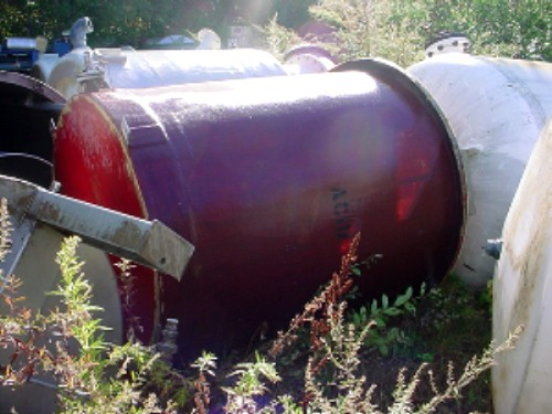400 Gallon Fiberglass Tank | Used Process Equipment Sales | J L Mercer