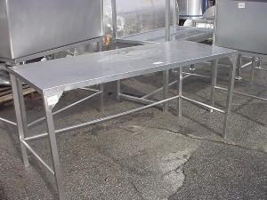 Ft STAINLESS STEEL TABLE J Little Mercer - 6 ft stainless steel table